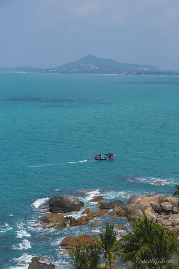 Красивый вид на море на Самуи