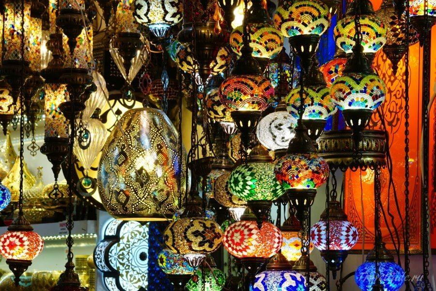 Национальные турецкие светильники