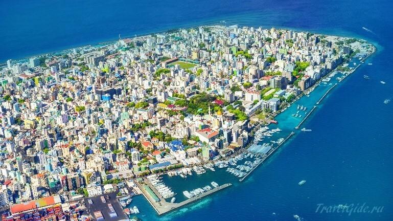 Мале Мальдивы вид сверху