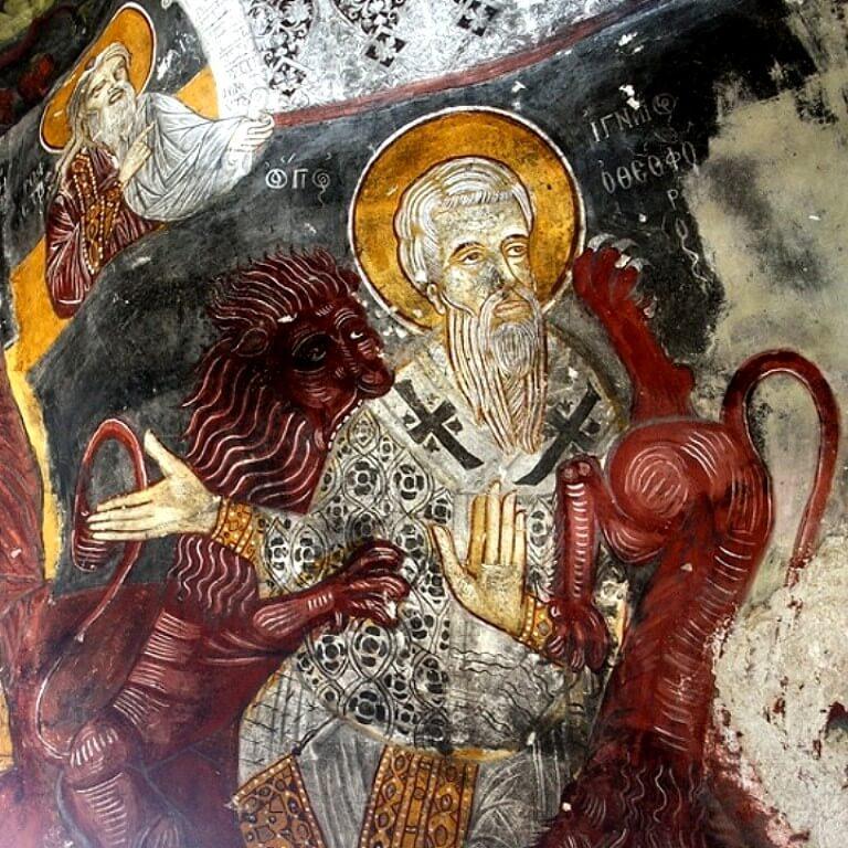 Фреска святой