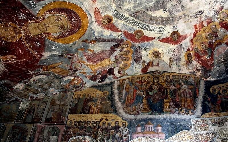 Фрески Всесвятая с горы Мела