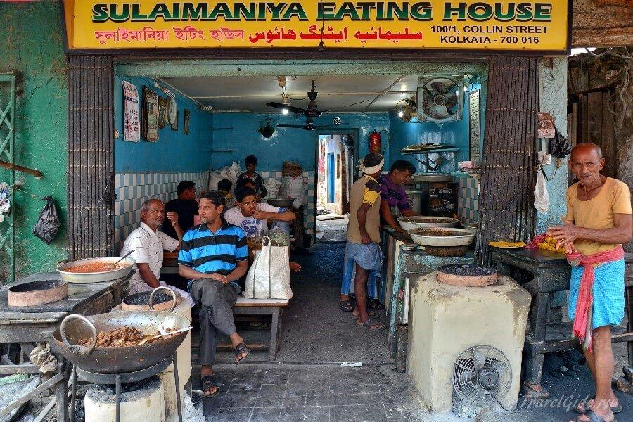 Уличное кафе в Индии