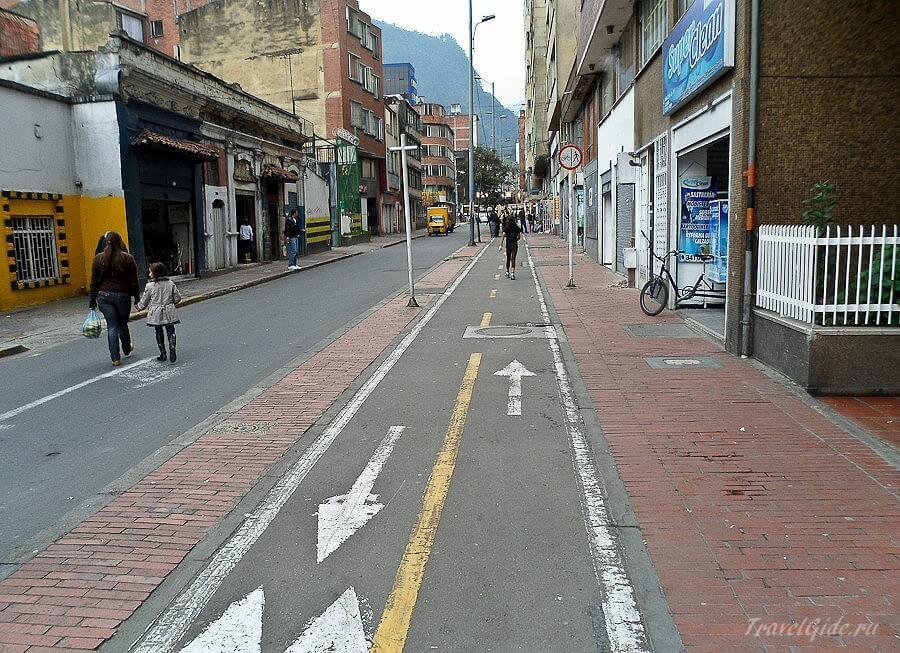Велосипедные дорожки в Боготе