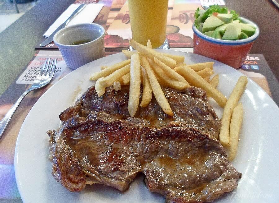Мясо в кафе