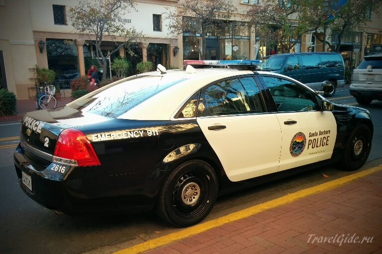 Полицейская машина Санта Барбара