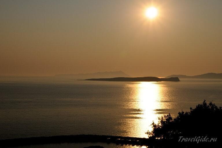 Закат на побережье