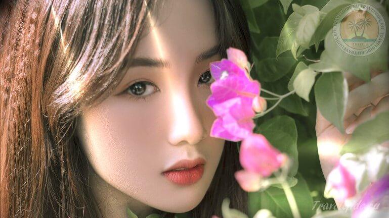 Красивая девушка из Вьетнама
