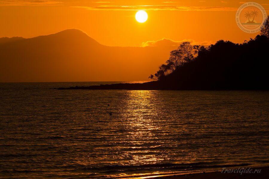 Солнце на закате Ко Паям