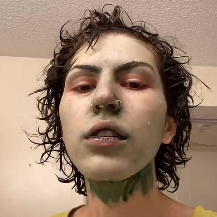 Смытая маска для лица с хлорофиллом