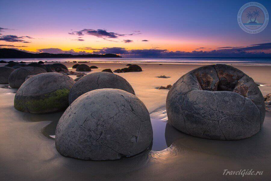 чудо света - Moeraki Boulders