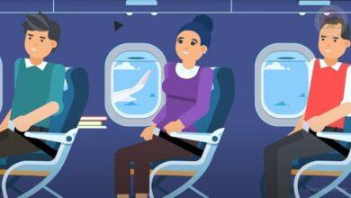 Photo of Почему ремень безопасности в самолёте крепится на поясе, а в машине через плечо?