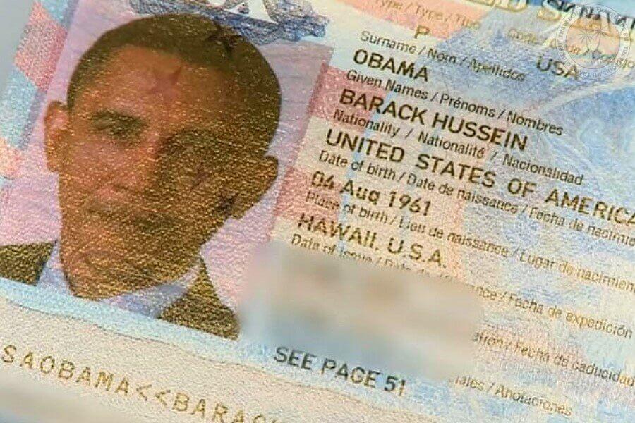 Паспорт Обамы